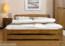 "*NODAX* Solid Wooden Pine Double Bed ""ONE"" 4ft6in frame&slats Various Colours"