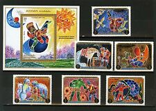 AJMAN 1971 FAIRY TALES BARON MUNCHHAUSEN SET OF 6 STAMPS & S/S PERF. MNH