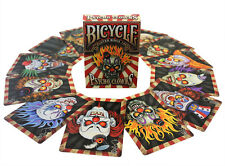 Bicycle Psycho Clowns Playing Cards New Deck