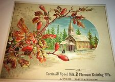 Antique Victorian American Corticelli Spool Knitting Silk Advertising Trade Card