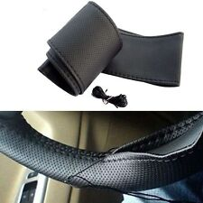 Car Black PU Leather Stitched Steering Cover : NEW HONDA MOBILIO