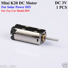 DC 3V High Speed Micro Mini K20 Motor Small DC Motor for Solar Power Toy Model