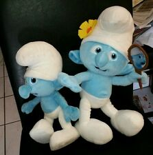 "The Smurfs 2 Movie Smurf Vanity Girl Stuffed Plush 13""  + Bonus 10"" Smurf 2013"