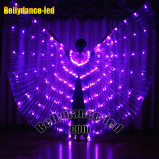 USA! Led isis wings rechargeable belly dance dancer show 126 lights purple