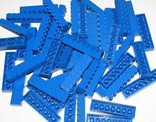 LEGO BULK LOT OF 50 BLUE 2 X 8 DOT BUILDING BLOCKS PIECES