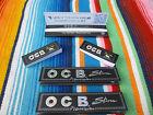 3 Heftchen OCB Schwarz Premium long slim 32 Blatt Blättchen und 100 Filtertips
