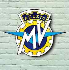 MV AGUSTA LOGO 2FT LARGE GARAGE SIGN PLAQUE SPORT F3 F4 BRUTALE RIVALE TURISMO