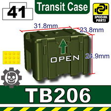 Tank Green TB206 Transit Case compatible with toy brick minifigures