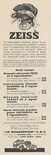 Z3119 Listino prezzi Binoccoli ZEISS - Pubblicità d'epoca - 1932 old advertising