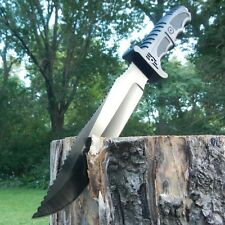 "13"" TACTICAL FIXED BLADE Machete SURVIVAL KNIFE Hunting Army Military w/ SHEATH"