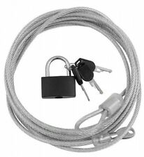 3m Ultra Fuerte De Acero De Seguridad De Alambre De Cable Lock & Teclas Para Bicicletas Laptops Monitores