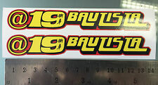 "Alvaro Bautista ""@19 Bautista"" Windscreen Stickers / Decals - 140mm x 20mm - X2"