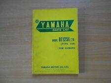 Parts list catalog catalogue Teile Katalog Yamaha DT 125 E (1GO) 1978