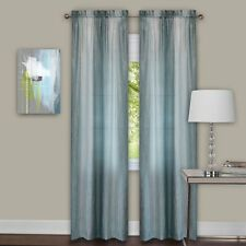 Luxurious Sombre 2 panels window curtain  dip dye trends Mist - Silver / Green