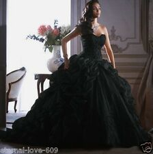 NEW Black Sexy Wedding Dress Bridal Gown Custom Size 4-6-8-10-12-14-16-18+++