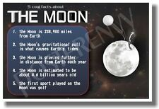 5 Facts About The Moon - NEW Astronomy Science Classroom Poster