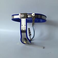 Female Adjustable Model-Y Stainless Steel Chastity Belt Locking Cover 65 - 90 cm