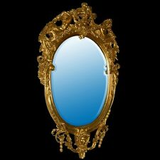 Monumental Antique Louis XV Style Gilt Wood Mirror #356