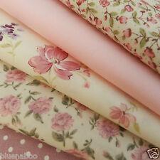 Bundle 5 fat quarters pretty pink florals  100% cotton