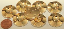 """8 Large Gold Tone Plastic Buttons Flower Floral 1"""" 25mm # 5624"""