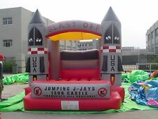 MASSIVE JUMPING CASTLE SALE - 4mx4m Castle Blast Off Theme ** Commercial ** USED