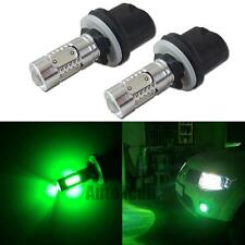 2pcs High Power Green 880 890 COB Projector LED Replace Bulbs For Car Fog Lights