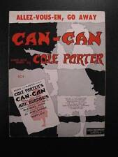 Allez-Vous-En, Go Away Sheet Music Vintage 1953 From Can Can Cole Porter (O)