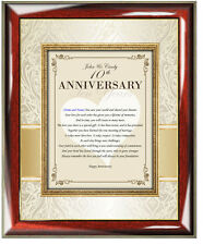 Best Wishes Happy Anniversary Gift Frame Poetry Congratulation Poem Plaque