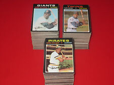 1971 Topps Baseball U Pick 10 complete your set EX+ lot STARS HI#'s HOF choose