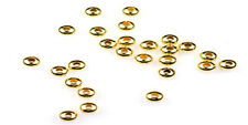 100 Teenie Tiny Gold Plated Rondelle Beads