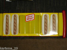 OSCAR MAYER WIENER THEMED HOT DOG CADDY or TRAY for SIX VINTAGE