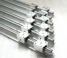 6pcs SBR12-400/1000/1500mm fully supported linear rail shaft rod+12pcs SBR12UU
