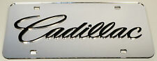 Cadillac Chrome Mirror License Plate Auto Tag