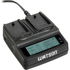 Watson Duo LCD Charger with 2 NP-FW50 Battery Plates