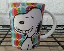 NEW PEANUTS 15 OZ COLORFUL DOT COFFEE CUP GIBSON GROOVY FUNKY MUG NWT SNOOPY DOG