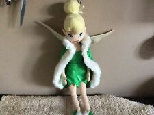 Disney  large Peter Pan Tinkerbell Winter plush soft toy doll With Cape