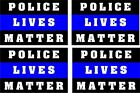 Thin Blue line Police Lives Matter decal, Reflective 4 Pack