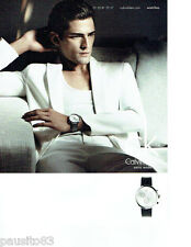 PUBLICITE ADVERTISING 1016  2012  Calvin Klein collection montre homme