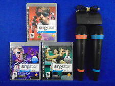 ps3 SINGSTAR + SINGSTORE Vol 1 + 2 + 3 + WIRELESS SingStar Microphones Official