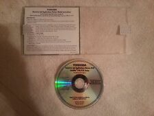 Genuine Toshiba Satellite P30 P35 Series Recovery Applications Drivers DVD READ!