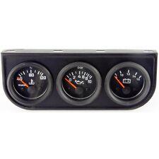 Black face trio gauge set kit pour voiture
