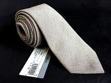 NWT $195 Prada Men's Gray Textured Cotton Red Pin Dot Tie AUTHENTIC