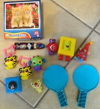 LARGE LOT BOYS GIRLS TOYS NEW 100 PC PUZZLE KEY CHAIN DICE GAME PART CLEAN @@