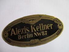 Typenschild Schild Alexis Kellner Berlin Karosseriebau S25 Plakette