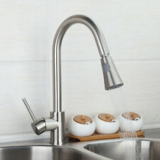 Nickel Brushed Pull Out Spray Swivel kitchen Basin Mixer Tap Sink Faucet