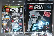 LEGO STAR WARS MAGAZINE 9 + Poster + Limited Edition Polybag Palpatine's Shuttle