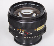 57mm f1.2 Konica AR camera lens Hexanon SN 7526xxx