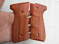 Beretta full size model 92, 96, M9 grip Haft checkered& Finger grove hardwood