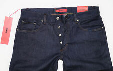 Nuevo-Hugo Boss-w36 l34-red 677/8 - Pure Blue Denim-jeans - 36/34 26c