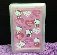 Cute Hello Kitty Playing Cards Poker in Plastic Case Family Fun Games Kids Gift